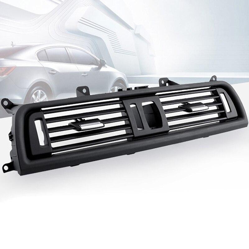 Car Styling Noir ABS Center Frais Air Outlet Vent Grille Avant Dash Panneau Grill Couverture pour BMW 5 F18 F10