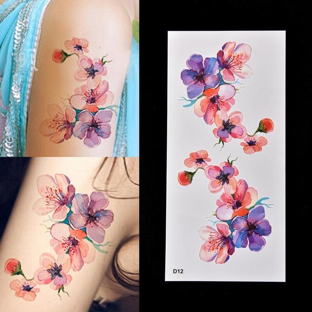 1pcs Beautiful Waterproof Temporary Fake Tattoo Sticker Diy