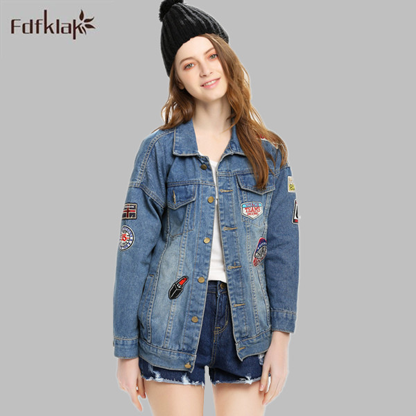 Women s Winter Jacket Denim Jacket Female Long Sleeve Korea Style Jeans Coat  Wholesale Cowboy Jackets For Women Autumn E0596 6cae0e18280b
