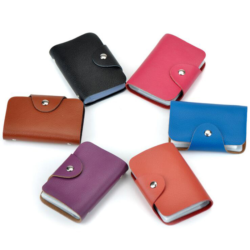 New Arrival Genuine Leather Business Card Case Women's ID Bag Female Credit Card Holder 26 Bank Cards Slots For Men
