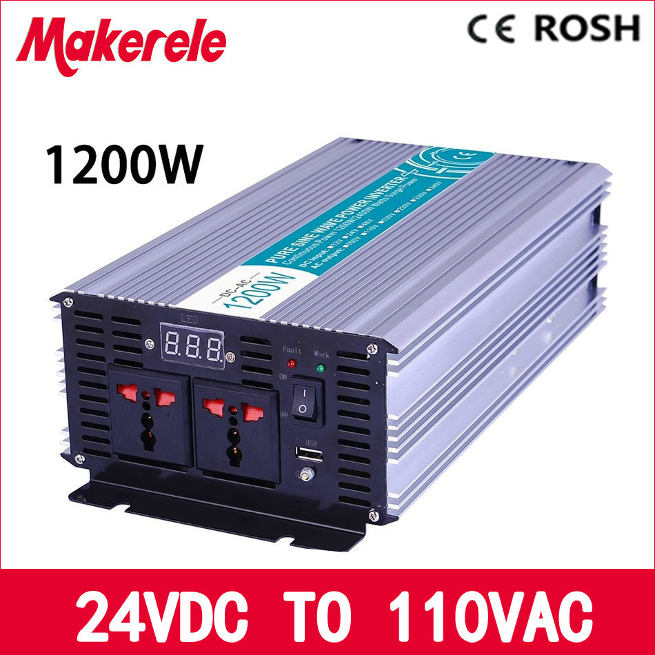 MKP1200-241 1200w pure sine wave power inverter 24vdc to 110vac off grid voltage converter,solar inverter