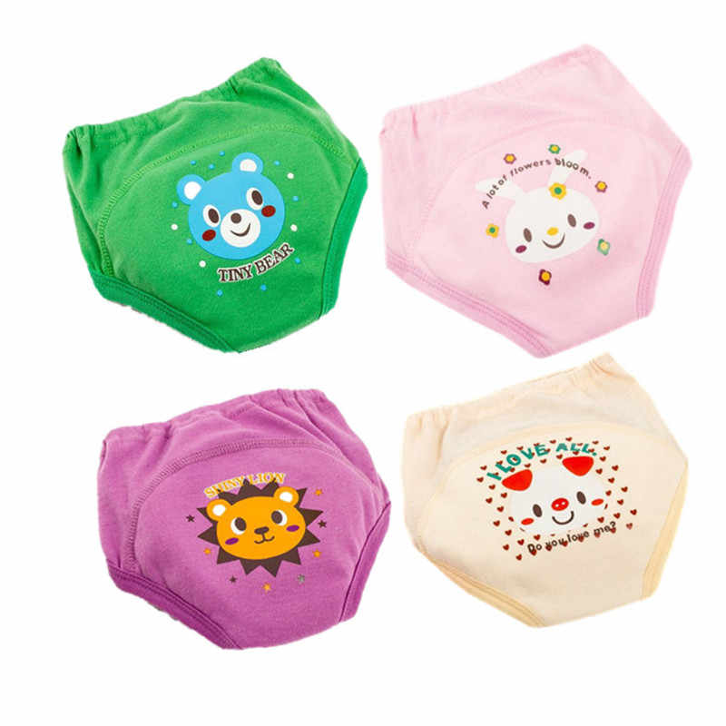 사소한 훈련 바지 유아 소년 소녀 팬티에 대한 아기 기저귀 재사용 가능한 빨 천 기저귀 아기 면화 기저귀 방수