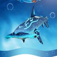Kawaii 100CM Simulated Hammerhead Shark Cute Flat Shark Stuffed Toys Marine Series Pendants Plush Toy Safa Dolls For Kids Gifts
