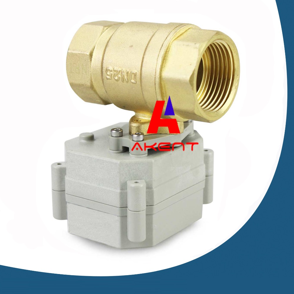 "Banjo Electric 3 Way Directional Ball Valve: 1"" DN25 DC12V 2 Way Motorized Ball Valve,Brass Position"