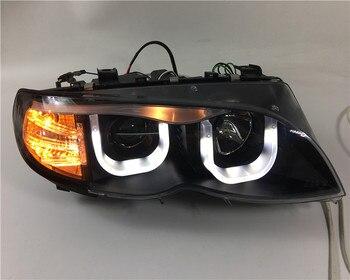 Qirun Angel eye+headlight assembly with Projector Lens for BMW 3 series E46 318i 320i 323i 325i 328i 330i 2002-2004