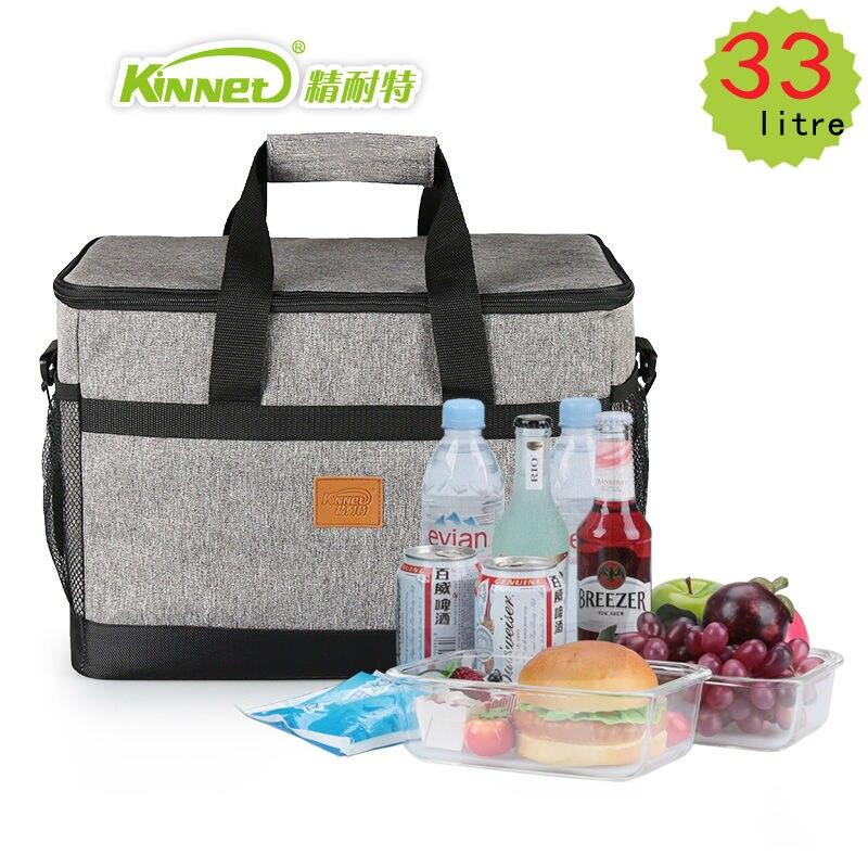KinNet sacchetto più freddo di picnic 33L grande capacità piazza sacchetti pranzo borsa termica borsa frigo frigorifero di foglio di alluminio macchina di borse termiche