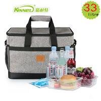 KinNet Picnic Cooler Bag 33L Large Capacity Square Thermal Lunch Bags Handbag Bag Refrigerator Of Car