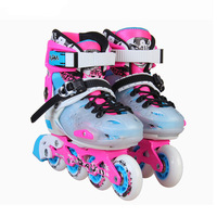 EUR size 30 33 34 37 38 41 Adjustable Children Inline Skates Kids Roller Skating Shoes Slalom Free Skating Patines
