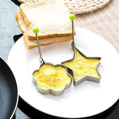 ใหม่มาถึง Hot ผัดไข่แพนเค้ก Shaper สแตนเลสสตีล Shaper Mold แม่พิมพ์ห้องครัวแหวนหัวใจครัวเครื่องมือ