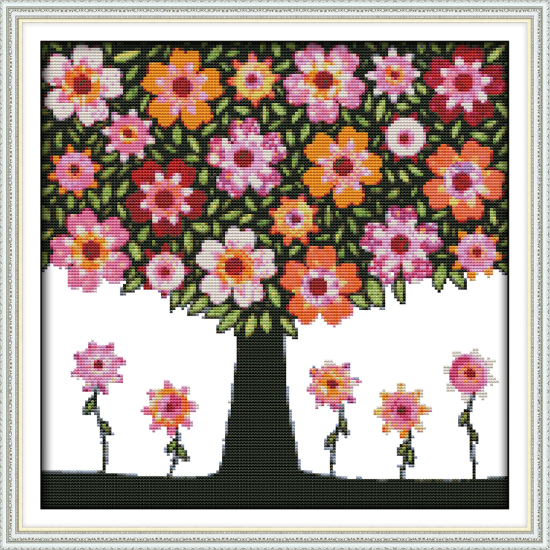 Yearning for spring (3) cross stitch kit 18ct 14ct 11ct count printed canvas stitching embroidery DIY handmade needlework