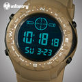 INFANTRY Men Watches 30M Waterproof Military Sports Watches LED Digital Wristwatches Rubber Strap Aviator Clocks Relojes Hombre