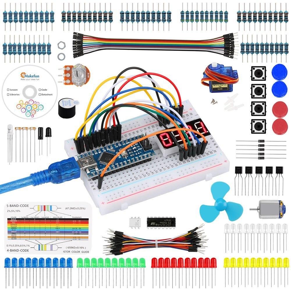 Keywish para Arduino Nano Projeto Super Starter Kit com R3 Tutorial Detalhado para UNO Mega 2560