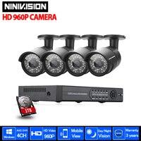 JAFUA 4CH CCTV System 960P 720P HDMI 1080P AHD CCTV DVR 1 TB HDD 4PCS 1