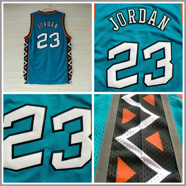 23 Michael Jordan Jersey 1996 ALL STAR Green Basketball Jersey ...