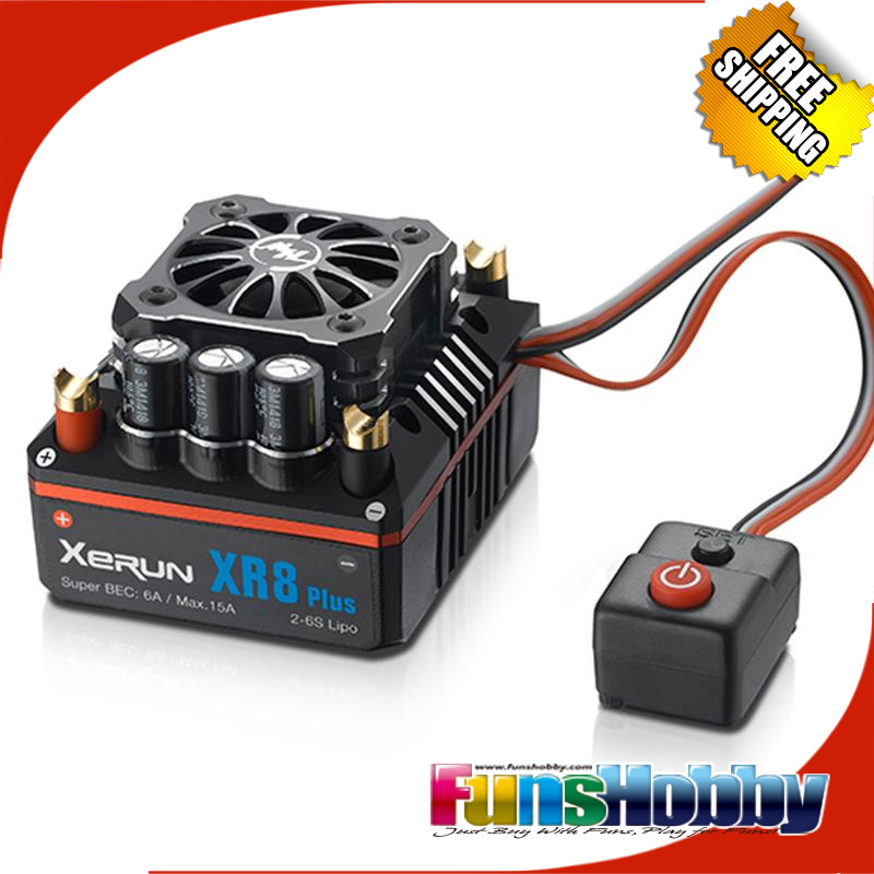 RC 1/8 Off Road Super Permium Power Combo INCL.Tenshock X812L Sensor Motor&Hobbywing XERUN XR8 PLUS ESC for Buggy Competition
