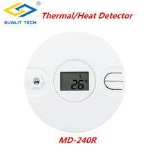 1/5/10 pièces système dalarme de capteur de fumée thermique Intelligent sans fil pour 433MHz/868MHz détecteur de capteur thermique de chaleur de feu à la maison