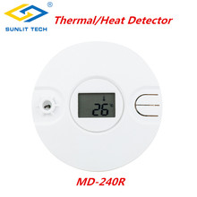 1/5/10pcs Wireless Intelligent Thermal Smoke Sensor Alarm System for 433MHz/868MHz Home Fire Heat Detector