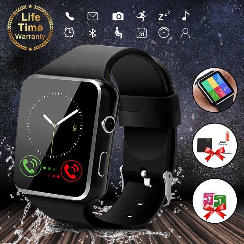 Bluetooth Smart Uhr X6 Sport Passometer Smartwatch mit Kamera Unterstützung SIM Karte Whatsapp Facebook für Android Telefon PK Y1 DZ09