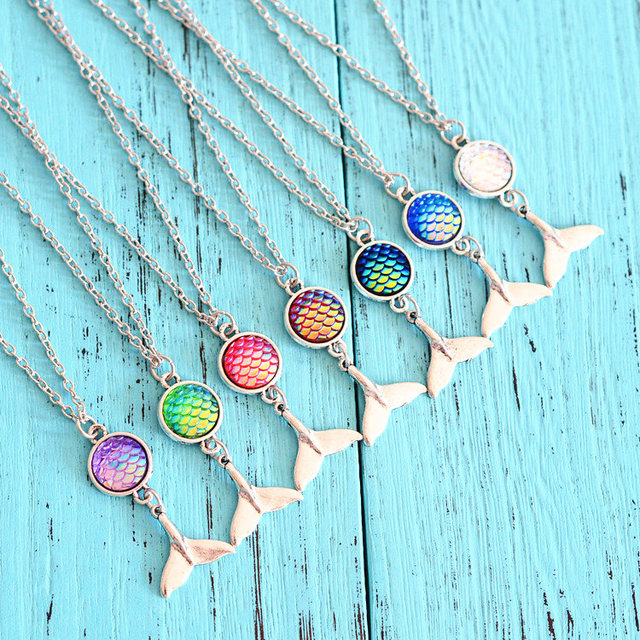 12pcslot mermaid scale necklace holographic mermaid tail necklace 12pcslot mermaid scale necklace holographic mermaid tail necklace shimmery mermaid jewelry gift pendant mozeypictures Images