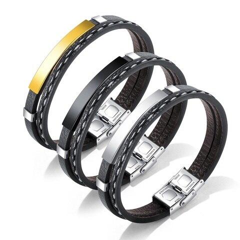 Модные браслеты для женщин ювелирные изделия Многослойное Плетение