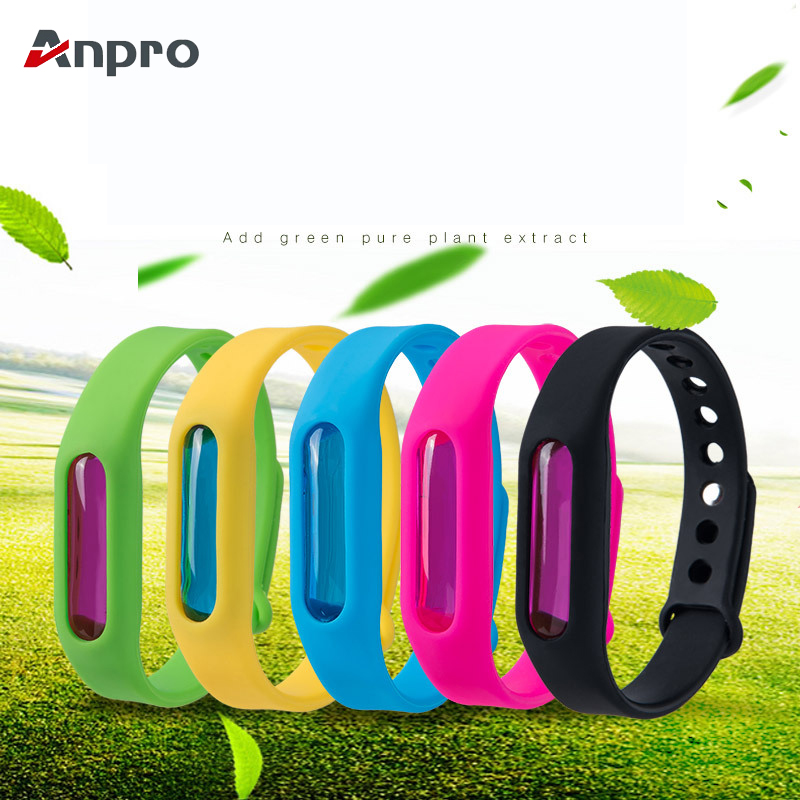 Anpro Wristband Bracelet Capsule Bugs-Control Mosquito-Repellent Insect Pest Silicone
