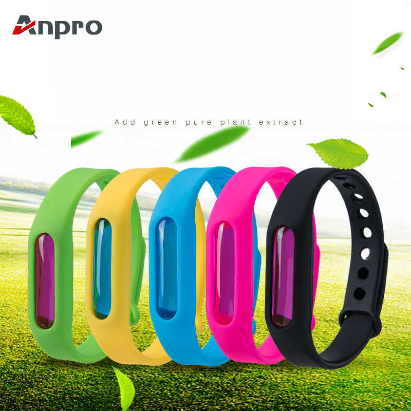 Anpro Mosquito Repellent Bracelet Silicone Capsule Pest Insect Bugs Control Anti-Mosquito Wristband for Kids Mosquito Killer