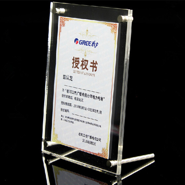 1 SET Acrylic Photo Frame Product Price Tag Display Stand Transparent Screws Advertising Europe High-end Fashion Picture Frame
