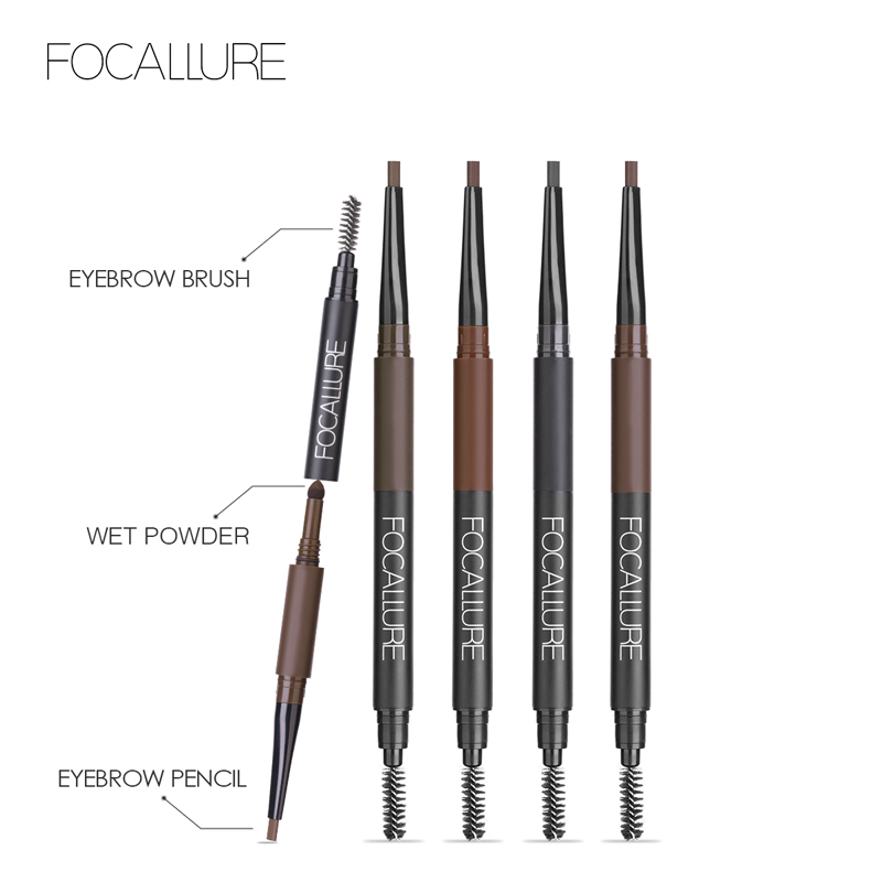Focallure 3 In 1 Auto Brows Pen 24 Hours Long Lasting Tint Shade Make Up Soft Smooth Fashion Eyebrow Pencil And Powder Eyebrows Eyebrow Enhancers Aliexpress