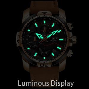 Image 4 - 2019 New LIGE Mens Watches Top Brand Luxury Men Casual Leather Quartz Clock Male Sport Waterproof Watch Relogio Masculino