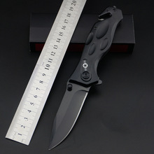 Tactical 56HRC High Hardness 3Cr13 Blade Metal Aluminum Handle Folding Knife Outdoor Camping Hunting Survival Tool high end microtech scarab troodon a07 camping hunting tacticall tool 440c blade aviation aluminum handle