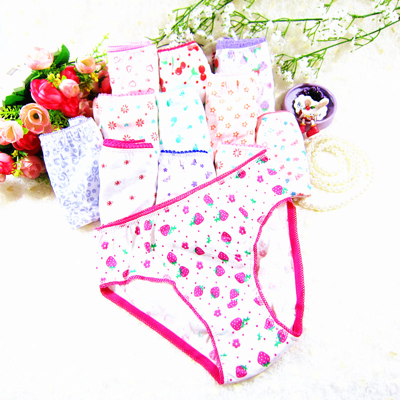 6Pcs/Lot Cotton Girls Kids Short Briefs Children Underwear Underpants Baby Panties 2-12Years 2