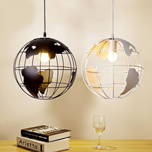 цена Globe Pendant Lights for Kitchen Bar Dining Room Restaurant Coffee Shop Home Decoration Hanging Lamp Vintage Retro Indoor Light онлайн в 2017 году