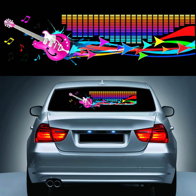 90*25 CM Voiture Rhythm Autocollant Égaliseur LED Néon Flash Light Decal Voitures Automobile Style de L'atmosphère De La Décoration CSL2017