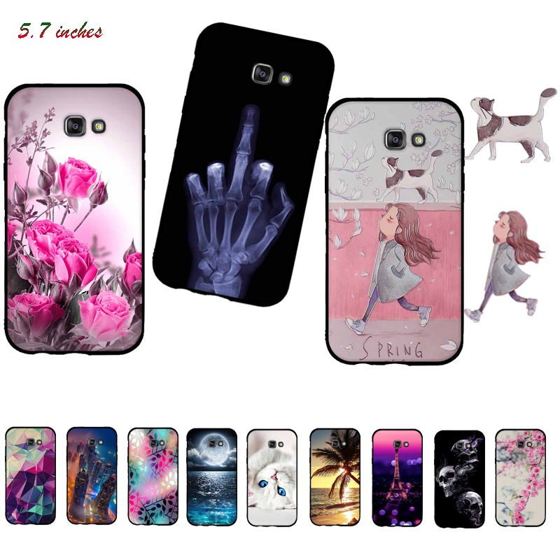 Case For <font><b>Samsung</b></font> Galaxy <font><b>A7</b></font> 2017 A720F Cases Soft Silicone TPU Cover Case for <font><b>Samsung</b></font> <font><b>A7</b></font> 2017 SM-<font><b>A7</b></font> (7) A720 Cover Bag <font><b>Capa</b></font> Funda image