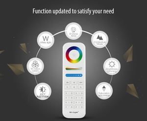 Image 5 - Mi Light 2.4G wireless 8 Zone RF dimmer FUT089 remote B8 Touch Panel Wall mounted rgbww  LS2 5 in 1 led controller for RGB+CCT
