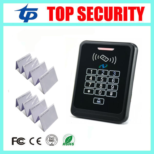 Good quality high security weigand RFID card access control 125KHZ ID card reader touch keypad RFID and password door opener diysecur lcd 125khz rfid keypad password id card reader door access controller 10 free id key tag b100