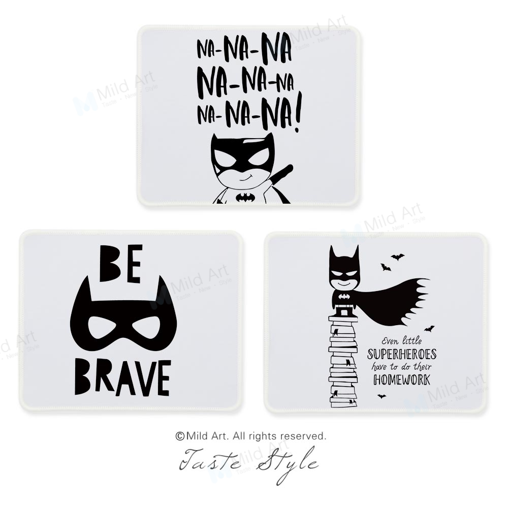 Nordic Black White Superhero Batman Quotes Game Kids Large Custom Prints Creative Gift B ...
