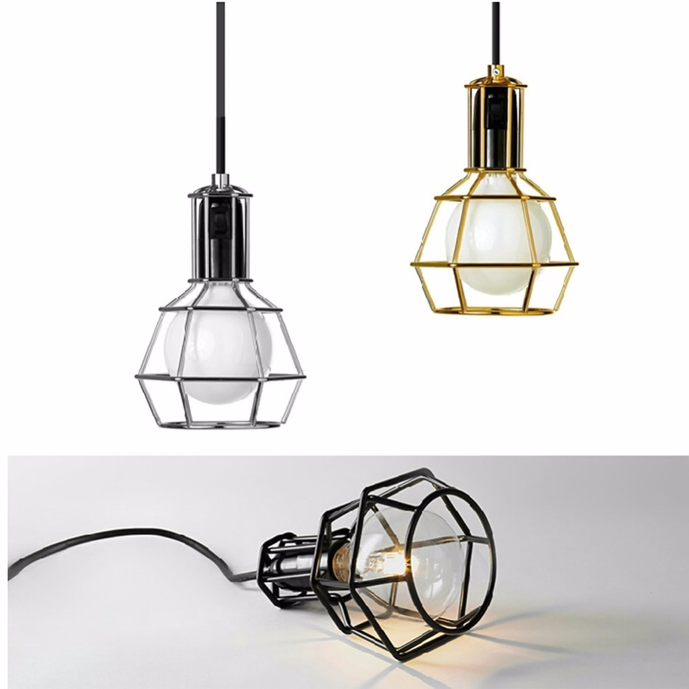 New Arrive Lamp Vintage Industrial Loft Retro Style Metal Cage Wire ...