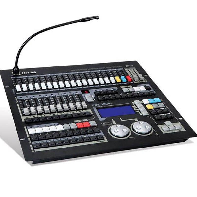 Più nuovo dj console di Volpe 1024 s dmx testa mobile regolatore della luce della fase con la lampada per dj della discoteca lihgitng attrezzature di volo pacchetto della cassa