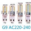 G9 Led 12 В ac 110 В 220 В 7 Вт 9 Вт 10 Вт 12 Вт Лампы 2835 светодиоды магнит Кристалл Силиконовые Свечи Заменить 20-40 Вт галогенные лампы