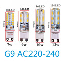 G9 Led 12v ac 110v 220v 7W 9W 10W 12W Bulb 2835 light diodes magnet Crystal Silicone Candle Replace 20-40W halogen lamps