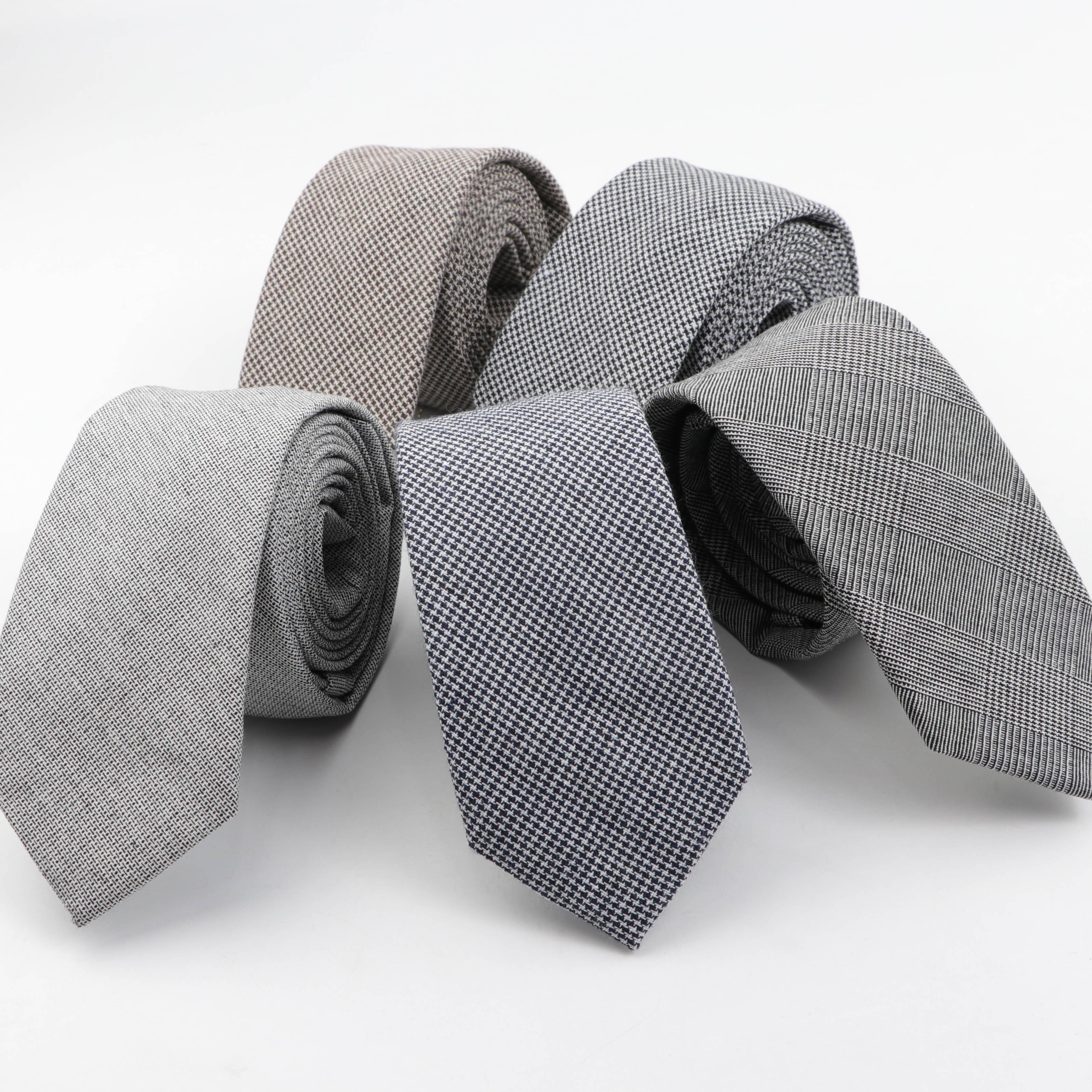 Striped Color 6cm Tie Cotton Pure Colorful Slim Neckties For Wedding Ties Skinny Groom Necktie For Men