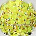 1000 unids/bolsa, ss30, 6mm, arte del clavo, lemon amarillo jalea ab resina flatback crystal rhinestone, caja del teléfono, el uso de pegamento, clavos, decoración