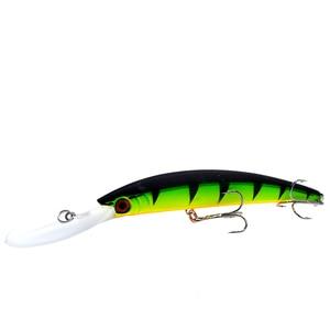 Image 5 - Wldslure 1pc minnow isca de pesca 150mm/16g crankbait artificial duro isca peche bass pike wobbler língua longa minnow