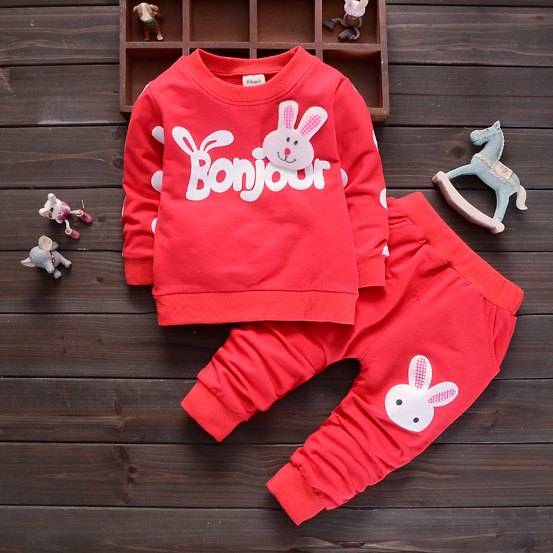 BibiCola Cartoon Baby Girls Clothing Sets Kids Outfit Clothes Tops T-shirt Pants Fashion Autumn Children Girls Tracksuit Sets 2018 new baby girls summer cartoon minnie short sleeve t shirt shorts pants sport clothing sets children kids tracksuit clothes