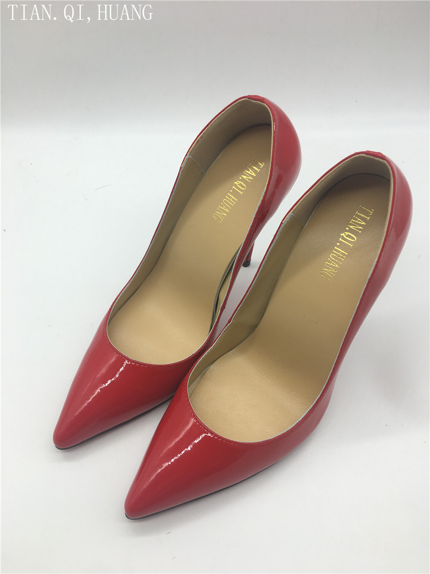 2018 New Style Women Pumps Fashion Styles High Heels Shoes High Quality Genuine leather Casual  Shoes Woman Spring and Autumn 2