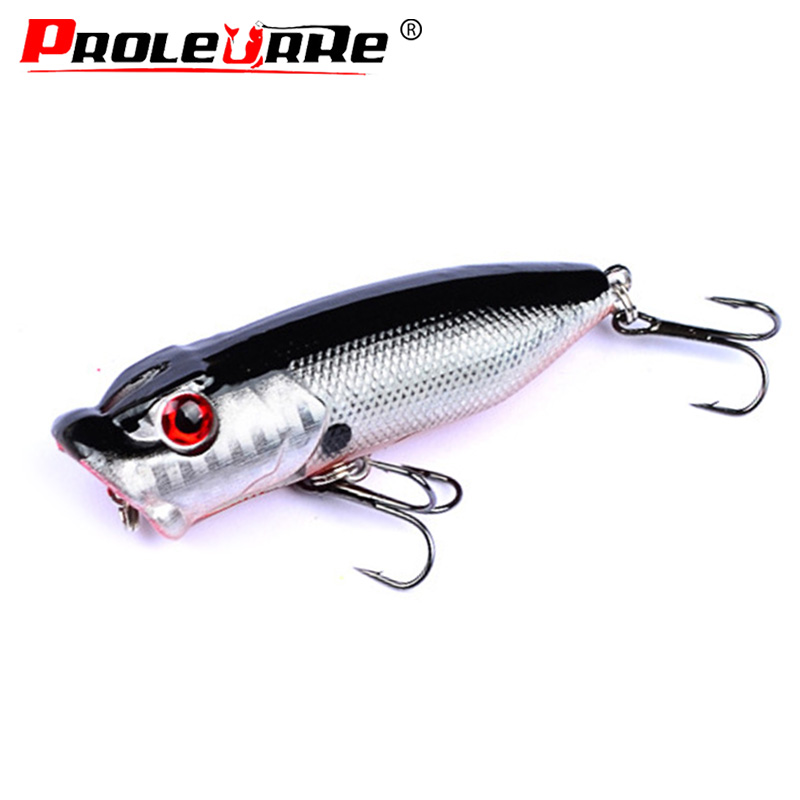 Ghoody Artificial Bait Reusable 6cm//6g ABS Plastic Carbon Steel Hard Lure Popper Fishing