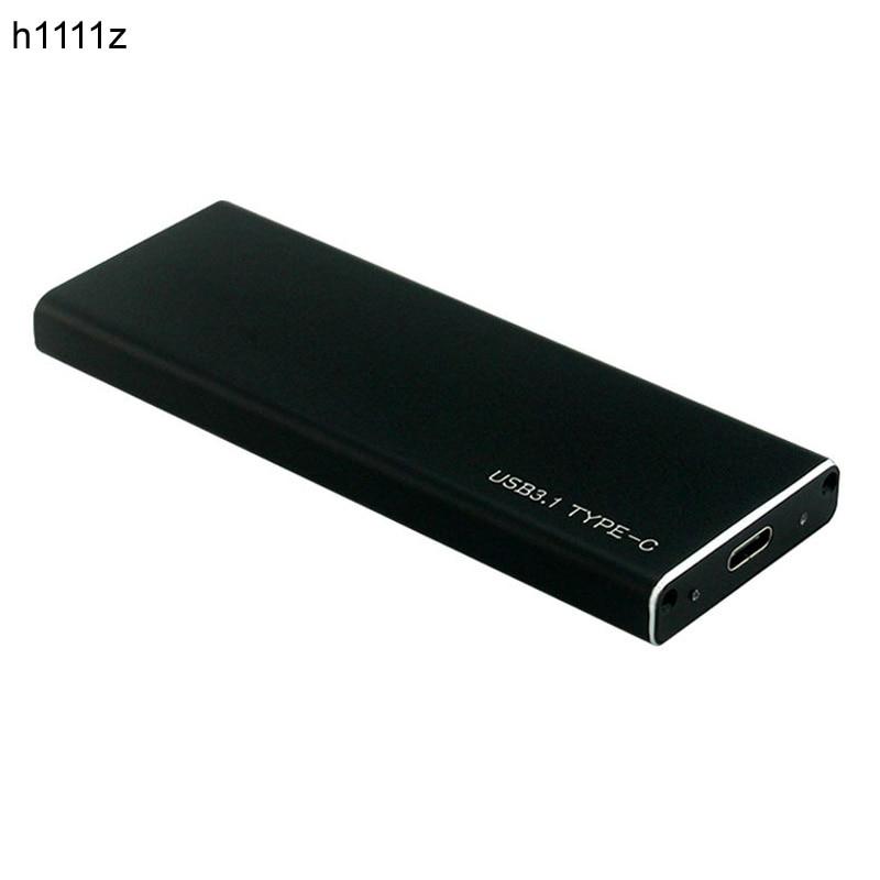 M.2 NVMe M clé SSD à USB 3.1 type-c boîtier 10 Gbps carte convertisseur adaptateur externe M2 SSD boîtier en aluminium + câble USB