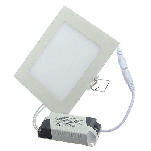 Dimmable LED Ceiling Panel Light 4W/6W/9W/12W/15W/25W Recessed LED Downlight with driver support dimmer  Warm/Natural/Cold White