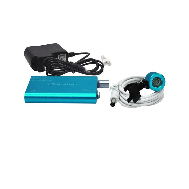 2016 new arrival Portable black LED Head Light Lamp for Dental Surgical Medical Binocular Loupe blue